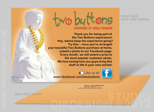 Two Buttons Postcard Design
