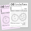 Two Buttons Invoice Design
