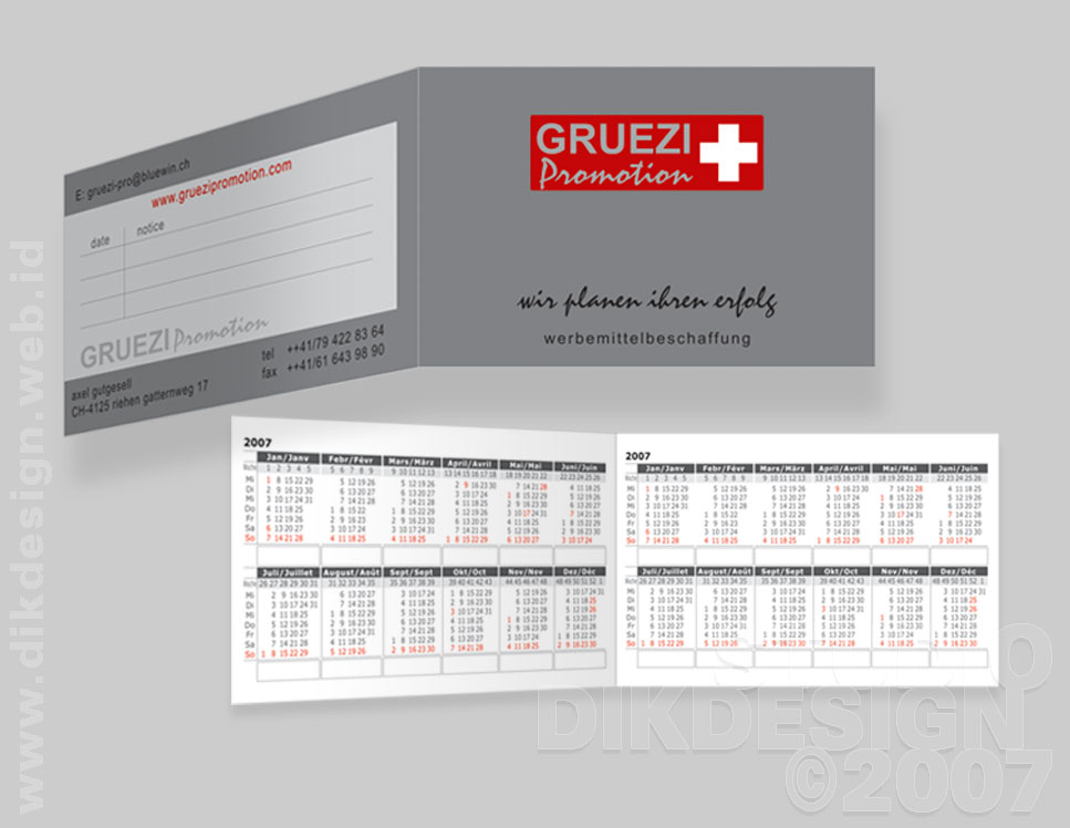 Gruezi Promotion Business Card