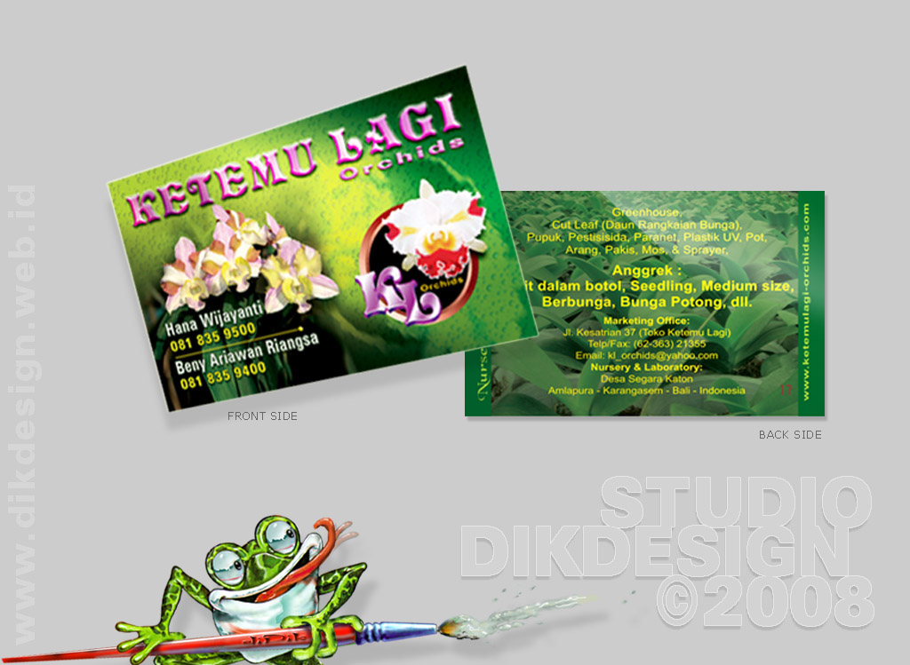 Ketemulagi Orchids Business Card
