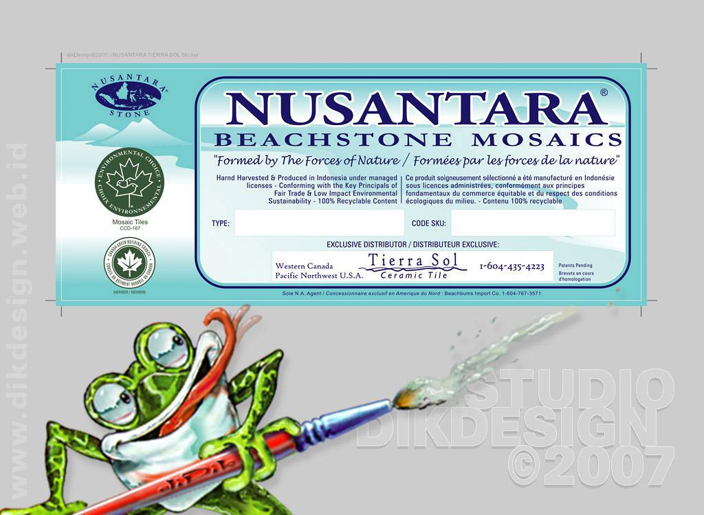 Nusantara Mosaics Label