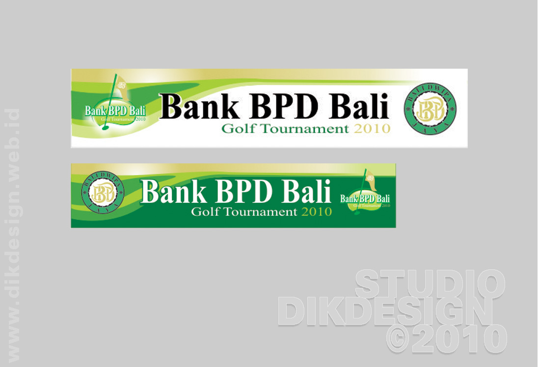 Bank BPD Bali Golf Tournament 2010 street banner Designs