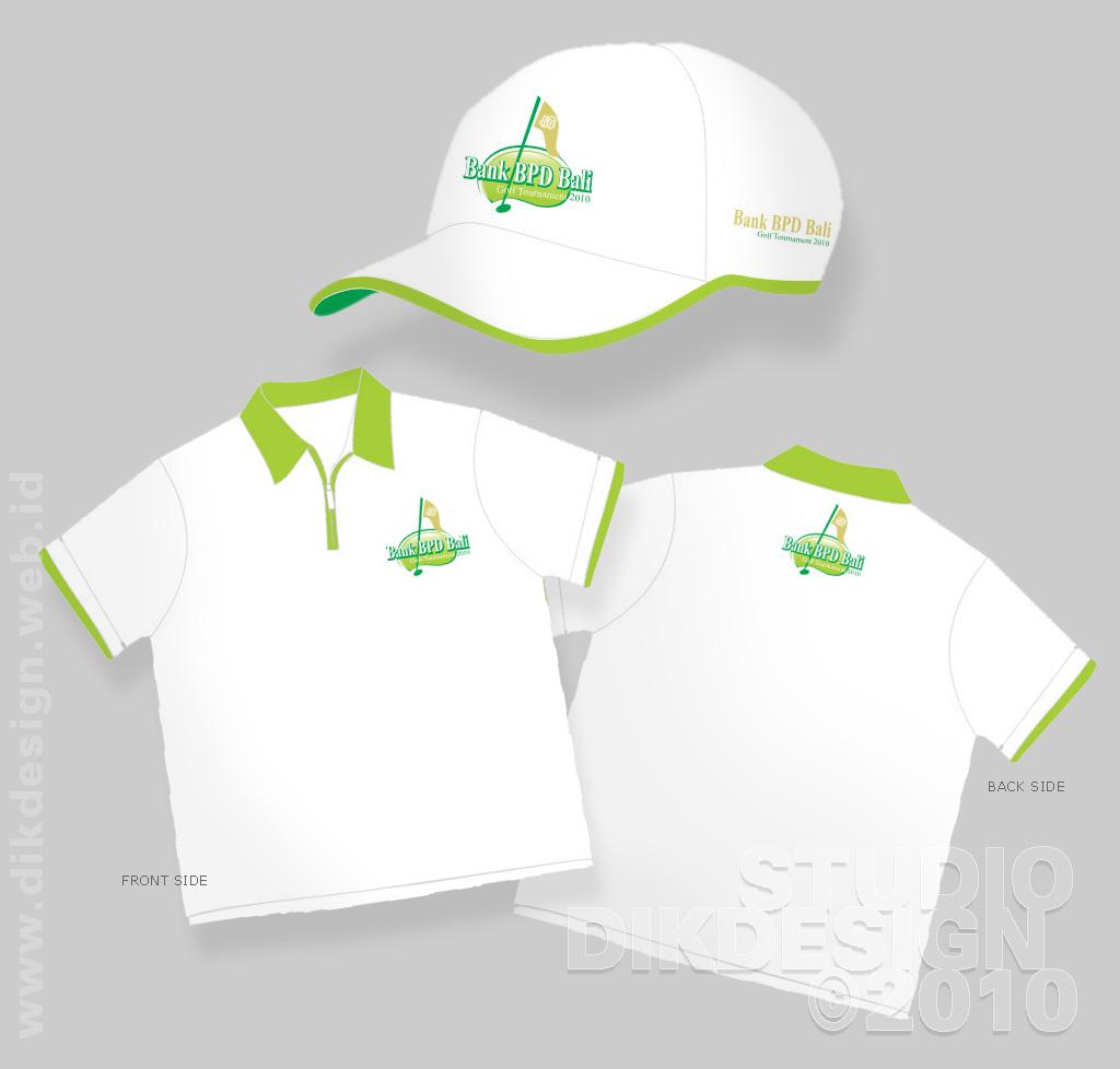Bank BPD Bali Golf Tournament 2010 t-shirt and hat Designs