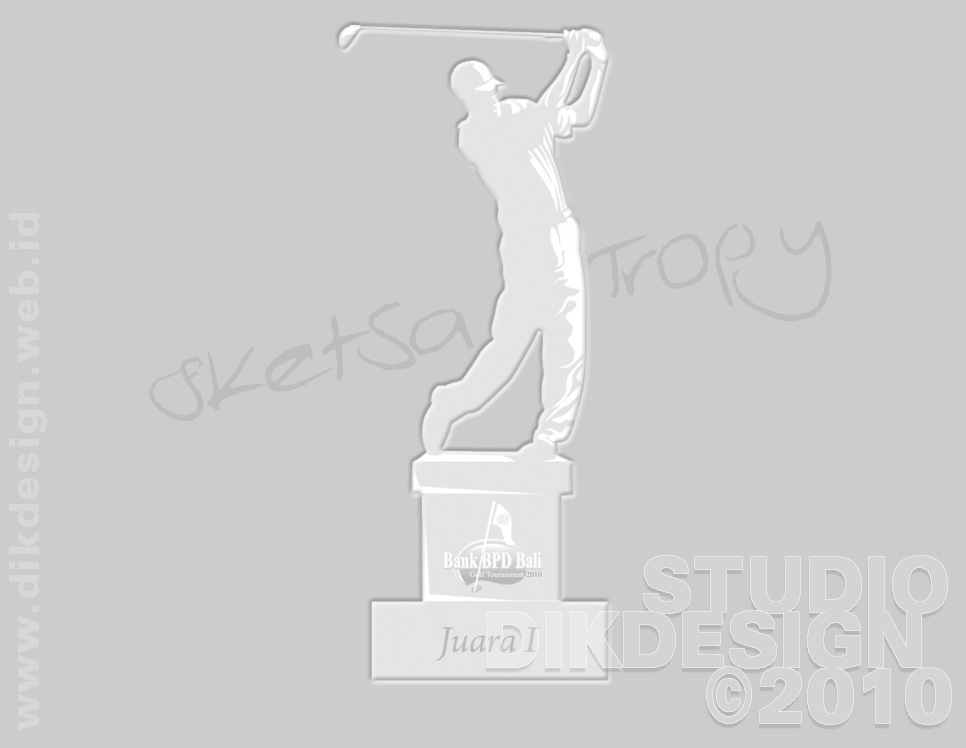 Bank BPD Bali Golf Tournament 2010 Trophy Designs