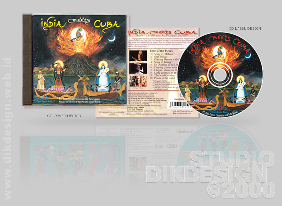 India meets Cuba CD Cover Design