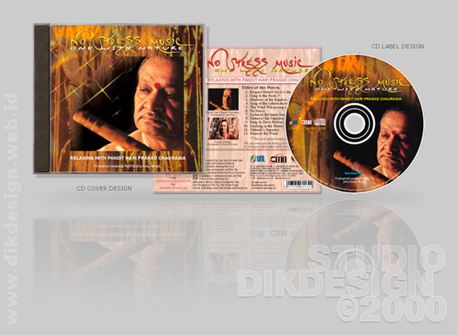 No Stress Music CD Cover Design
