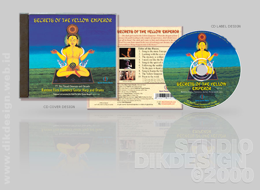 Secrets of the Yellow Emperor CD Cover Design