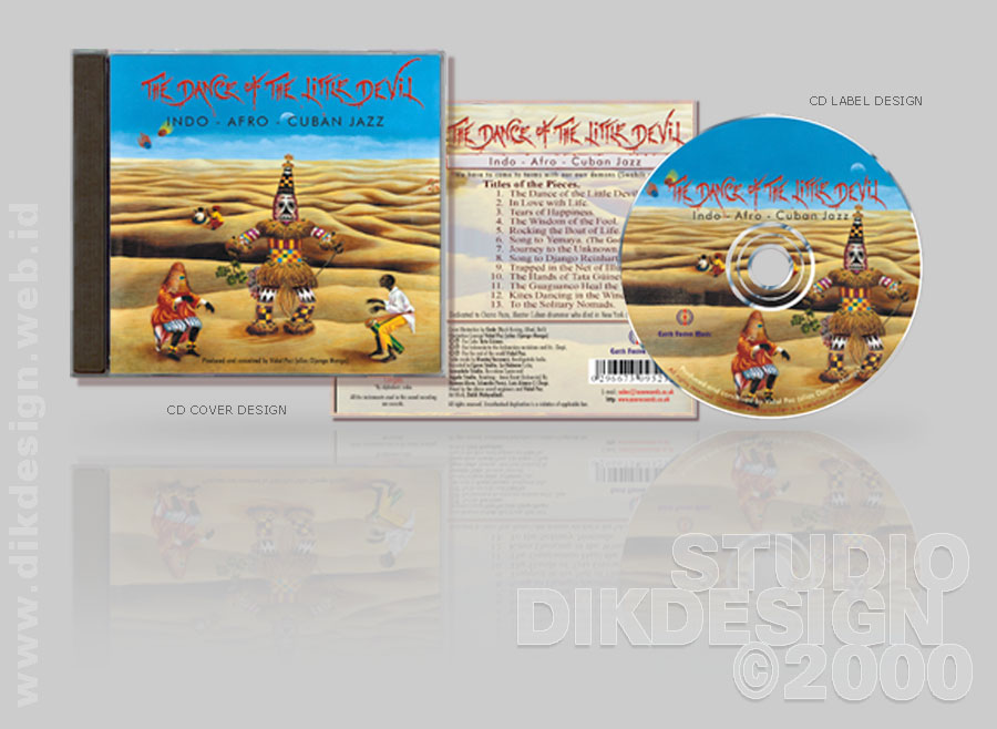 The Dance of the Little Devil CD Cover Design