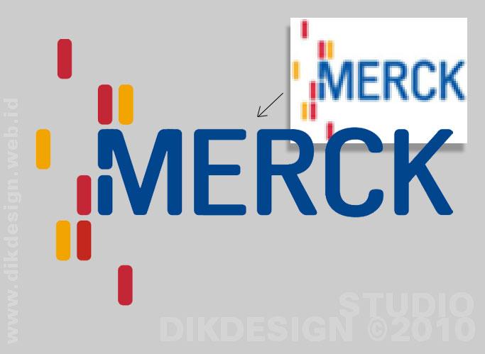 MERCK Redrawing logo