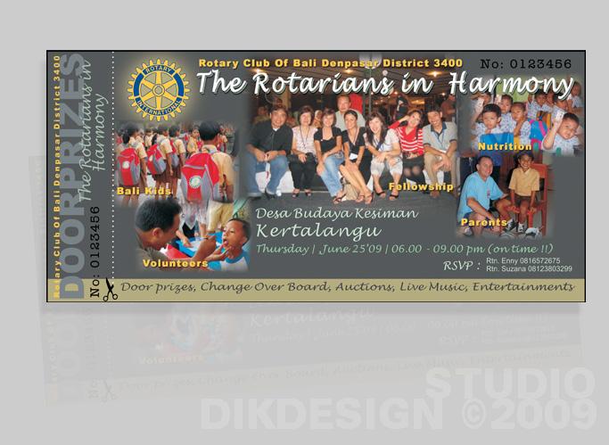 Rotary Club Invitation Cards Design