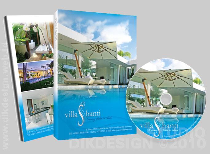 Villa Shanti CD Cover and Label Design