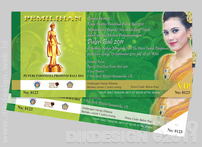 Puteri Bali Invitation Design