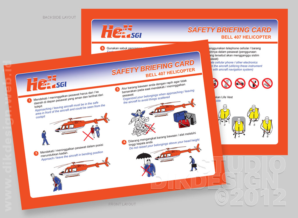 AIRBALI Safety Briefing Card Design