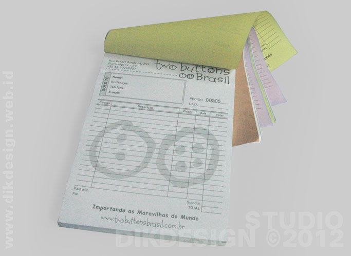 2 Buttons Brasil Invoice Redesign and Printing