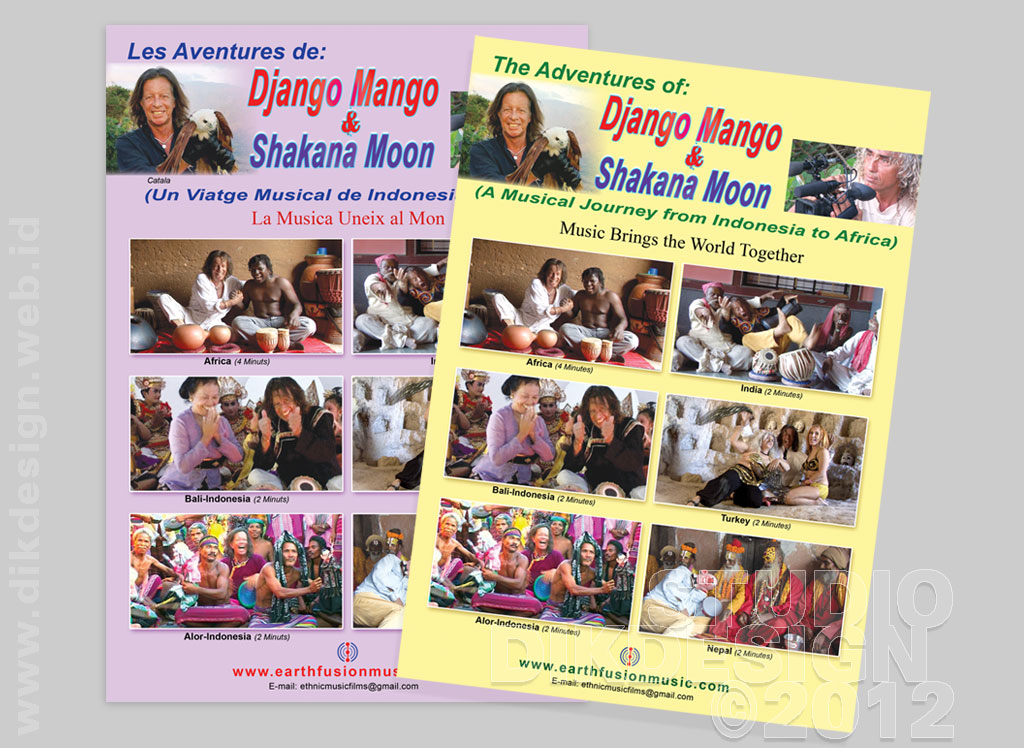 The Adventures of Django Mango and Shakana Moon Brochure Design