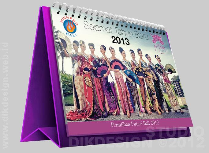 Puteri Bali Calendar Design