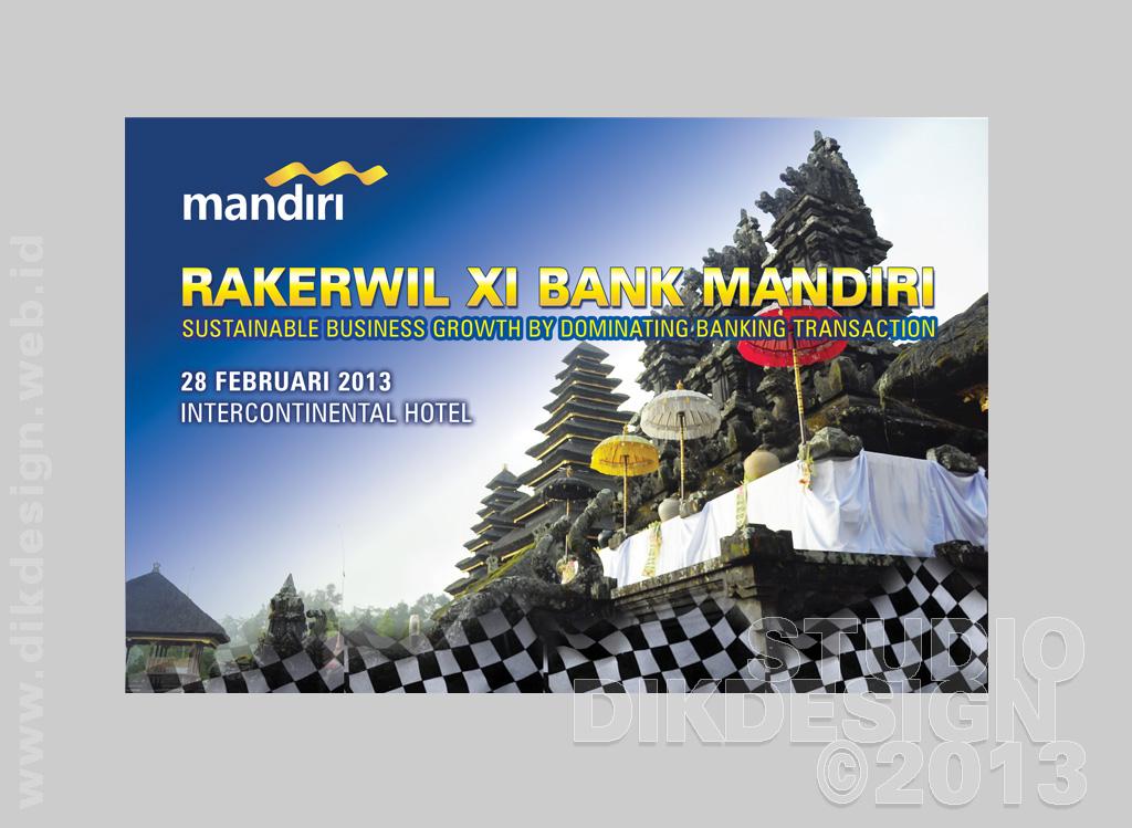 Rakernas XI Bank Mandiri wall-of-fame design