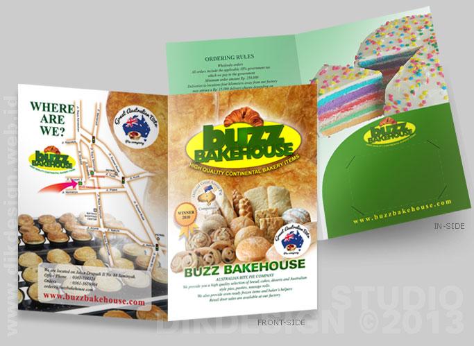BUZZ BAKEHOUSE Brochure design