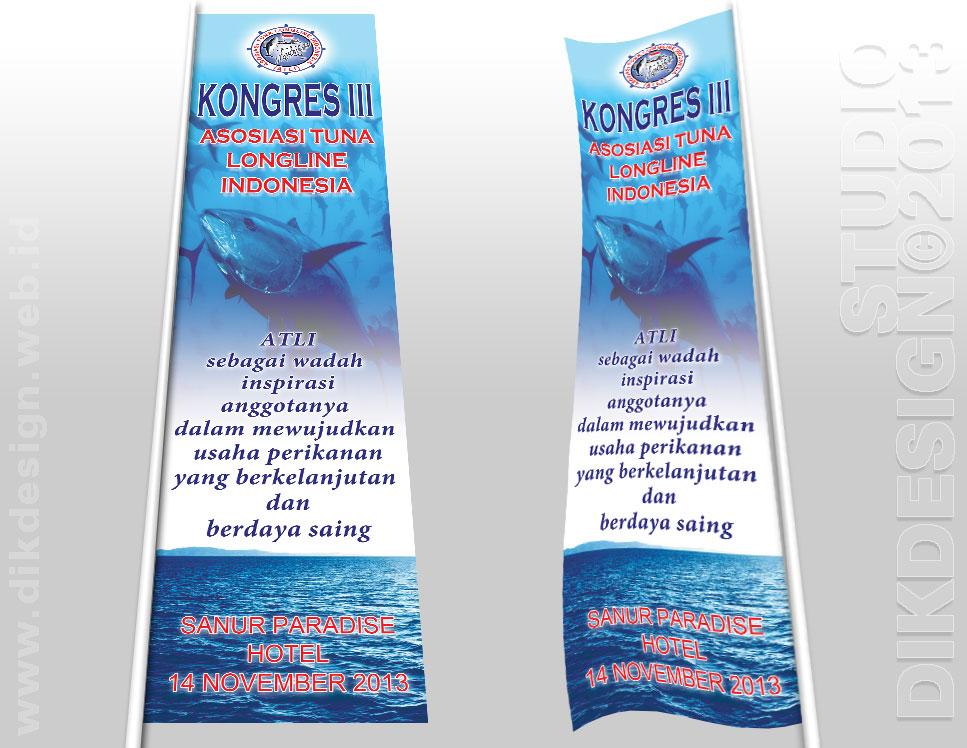 Design Done: Kongres III ATLI 2013 Umbul-umbul / Banner Design