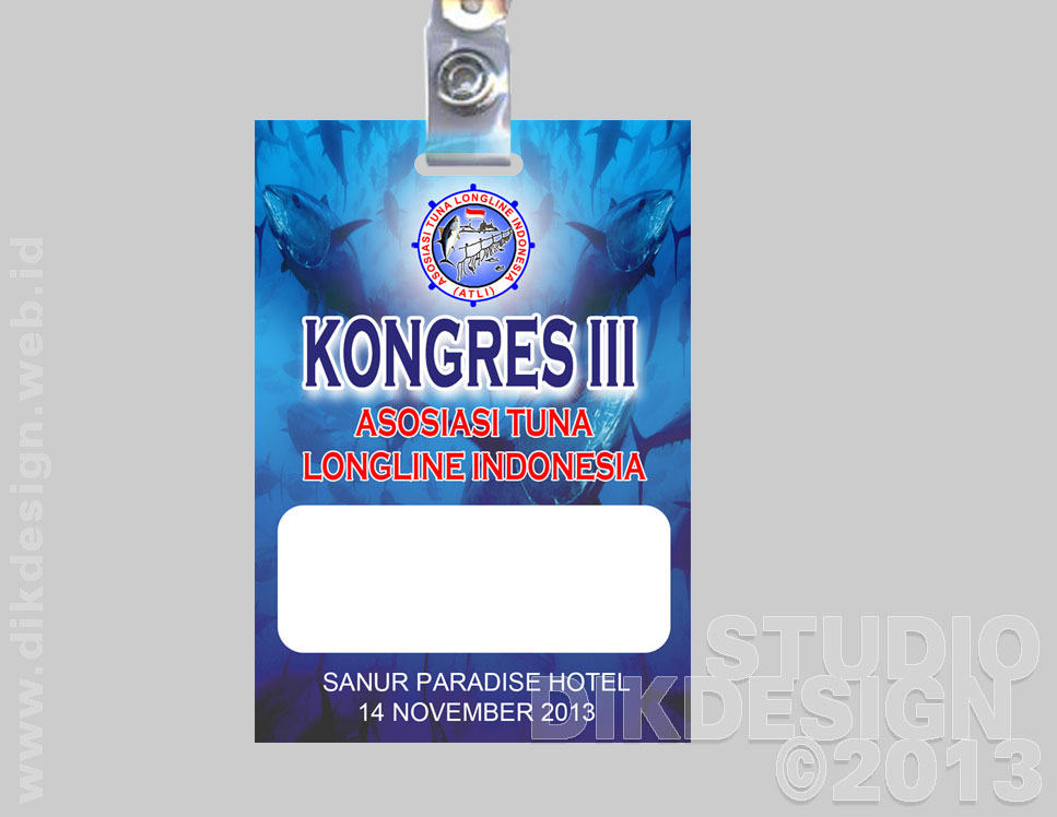 Kongres III ATLI 2013 Name-tag Design
