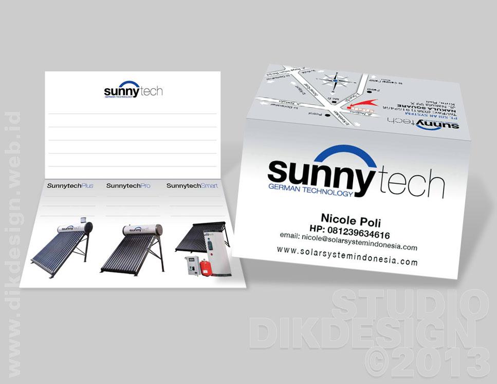 SunnyTech Business Card Design