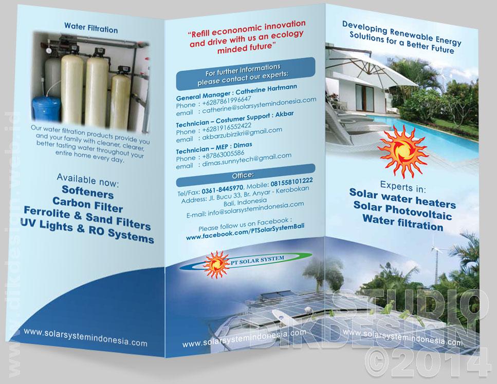 SunnyTech, developing Renewable Energy Solution for Better Future Brochure Design