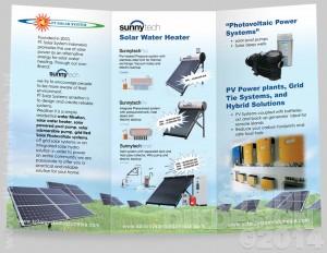 SunnyTech Brochure, inside Design