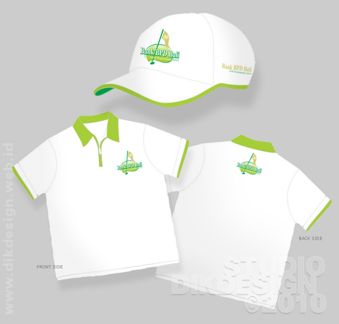 Bank BPD Bali Golf Tournament 2010 t-shirt and hat Designs
