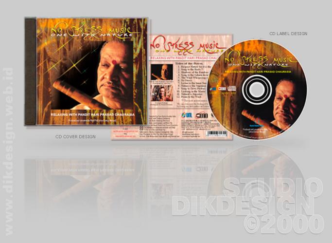 No Stress Music CD Cover Design