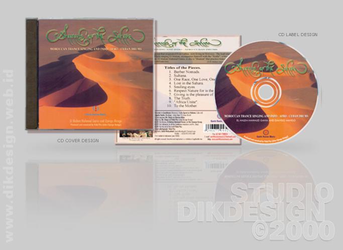Shamans of the Sahara CD Cover Design