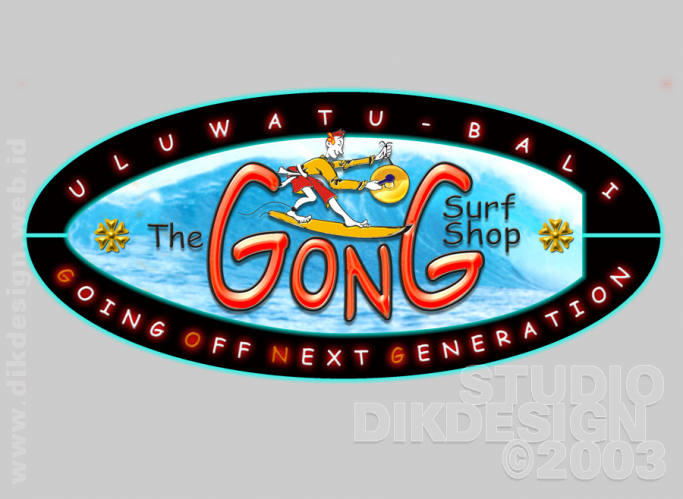 THE GONG SURF SHOP Neon Sign Design