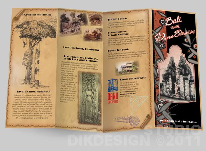 Bali with Danu Enterprises Brochure Design