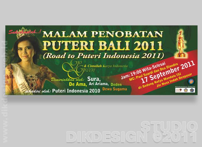 Puteri Bali 2011 Banner Design