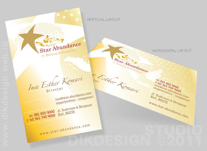Star Abundance Business Card Design