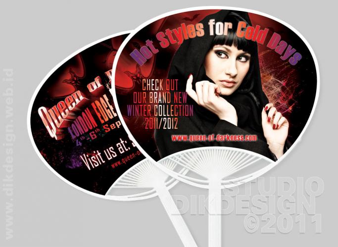 Queen of Darkness Fan Design