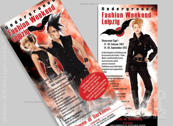 Underground Fashion Weekend Leipzig Flyer Design